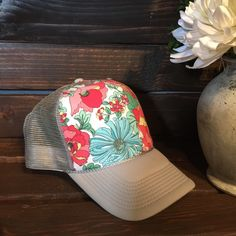 911fcb9d Best selling spring floral women's trucker hat. SnapBack, one size fits  all. Great