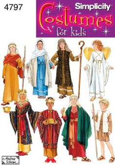 Amazon.com: Simplicity Sewing Pattern 4797 Boy and Girl Costumes, A (S-M-L): Arts, Crafts & Sewing