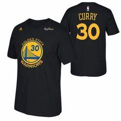 Golden State Warriors adidas NBA Finals Stephen Curry #30 Replica Tee - Black