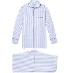 Turnbull & Asser Striped Cotton Pyjama Set