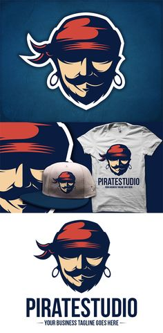 Pirate (On Sale Logo) by BossTwinsArt , via Behance