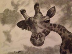 'Zarafa' charcoal art by 'frogster'