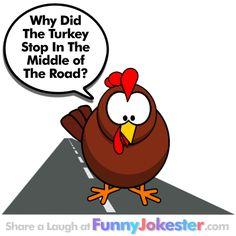 turkey joke why did the turkey cross the road funny jokester pinterest jokes the o 39 jays. Black Bedroom Furniture Sets. Home Design Ideas