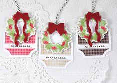 Fa La La La La Gift Tags by Dawn McVey for Papertrey Ink (September 2015)
