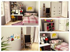 Orange Pearl Apartment by Simberry / Kid Girl Room / Sims 3 / Download Sims 3 Games, Free Sims, Teenage Room, Girl Room, Sims 4, Apartments, Kid, Pearls, Orange