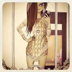 Kinda of in love with my @Balmain dress and @vancleefarpels pendant