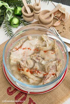 piftie-de-porc-racitura-diva-in-bucatarie Romanian Food, Christmas Recipes, Hummus, Homemade, Ethnic Recipes, Home, Pork, Home Made, Hand Made