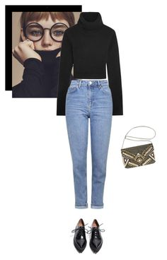 """mom jeans"" by ankeh on Polyvore featuring Michael Kors, Topshop, Jeffrey Campbell and Avenue"