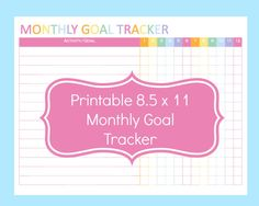 Track your monthly goals or activities with this printable monthly goal tracker…