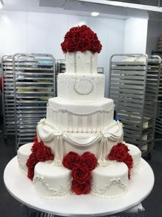 A little over the top but I love the sparkles and roses!!
