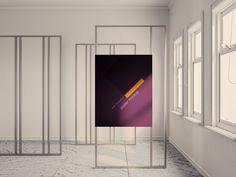 Exhibition poster mockup with natural window light that overlays it with the option to increase or decrease it according to your design needs. Mock Up, Free Mockup Templates, Shops, Exhibition Poster, Photoshop, Visual Merchandising, Wallpaper Backgrounds, Your Design, Cool Designs