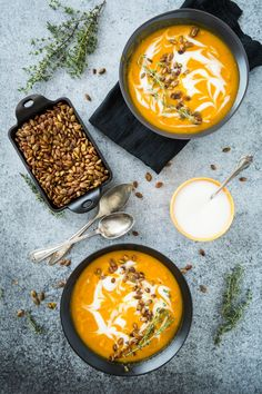Harissa Roasted Butternut Squash Soup with Spicy Toasted Pepitas | Keepin' it Kind