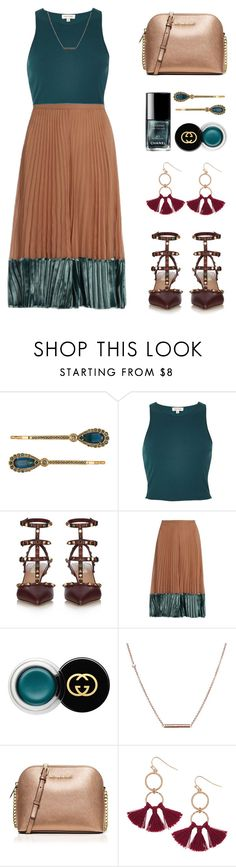 Styling a Pleated Skirt by stavrolga on Polyvore featuring River Island, Valentino, MICHAEL Michael Kors, Humble Chic, Dutch Basics, Henri Bendel, Gucci, pleatedskirts, pleats and polyvoreeditorial