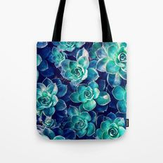 Plants of Blue And Green Tote Bag