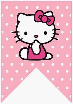 BulutsMom: Hello Kitty Temalı Doğum Günü Banner Harfleri