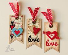 DIY Bookmarks #valentines #love #hearts #stamp #die #cute