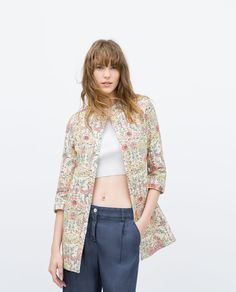 PRINTED FLORAL COAT-Outerwear-WOMAN-SALE | ZARA United States
