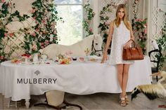 Mulberry spring Tim Walker at his best. The British brand's spring campaign was bright and fantastical, featuring Cara Delevingne at a tea party with ponies, puppies and pelicans. Oh, and some really nice handbags. Tim Walker, Cara Delevingne, Trendy Fashion, Fashion News, Fashion Models, Fashion Tape, Fashion Shoot, Party Fashion, Fashion Designers