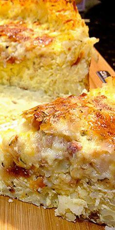 Quiche with Hash Brown Crust ❊