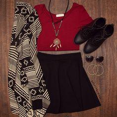 Call The Shots Crop Top - Burgundy #Fashion #Fall #crop #ootd #ShopPriceless