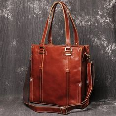 Womens Tote Messenger Tote Bag Tote Handbags, Leather Handbags, Leather Bag, Brown Leather, Tote Bags, Long Wallet, Messenger Bag, At Least, Shoulder Bag