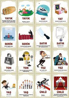 Turkish Lessons, Learn Turkish Language, Language Lessons, Kids Learning Activities, Erdem, Education, Math, Words, Turkish Language