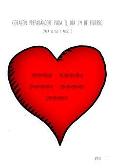 Corazón de San Valentín, preparándose para el evento...