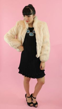 rabbit fur jacket - $120