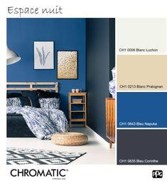 Les couleurs froides, même foncées, si elles sont bien dosées et associées à des matières ou accessoires clairs, sauront procurer la sensation d'espace à votre pièce. www.chromaticstore.com