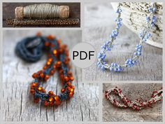 This is an instant download in PDF format. You can download it immediately after payment. You will receive a step-by-step tutorial for making a beaded crochet necklace. The process of crocheting is illustrated with 26 pictures. Basic crocheting skills are enough. Material List: -