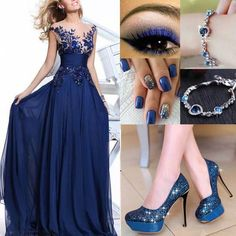 Mejores complementos para vestido azul marino