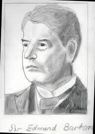 edmund barton - Charcoal drawing