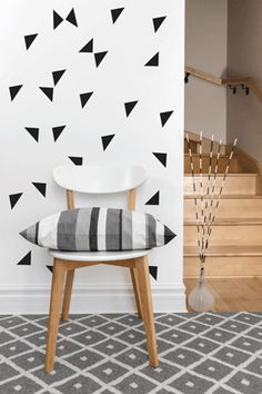 Triangle Pattern Wall art South Africa Stickart