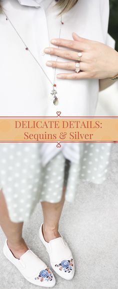 Add a touch of sequins or silver jewelry for a delicately styled outfit. See the full look on Layersofchic.com.
