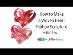 Valentines Woven Heart Card or Hair-ClipHow To Make a Ribbon Woven Heart Valentine's Day Hair ClipLearn to make a ribbon heart hair clip for Valentine's Day. Fun and easy project to make in minutes with just a little bit of ribbon, glue and a hair cl Diy Hair Bows, Diy Bow, Diy Ribbon, Ribbon Hair, Ribbon Bows, Origami Ribbon, Ribbons, Ribbon Retreat, Hair Bow Tutorial