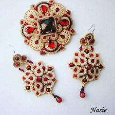 Beaded Brooch, Beaded Earrings, Beaded Jewelry, Brooches Handmade, Handmade Art, Handmade Jewelry, Soutache Pendant, Soutache Necklace, Soutache Tutorial