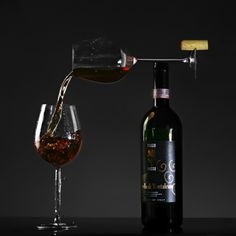 A well balanced wine.  Don't try this at home!