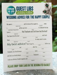 Wedding reception - cutesy activity to keep guests occupied while photos are taken