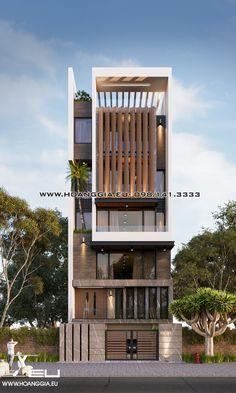 Kết quả hình ảnh cho nhà phố 6 tầng Office Building Architecture, Building Design, Building A House, Arch House, Facade House, Contemporary Architecture, Architecture Design, Morden House, Narrow House