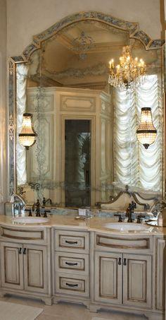 Custom Bathroom Vanities Arizona european garden retreat | calvis wyant custom homes scottsdale az