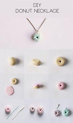 DIY Polymer Clay Donut Necklace Step-by-Step Tutorial | HungryHeart.se