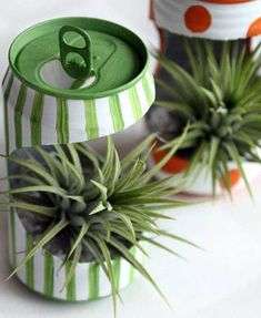 Recycling Old Tin Can Into Mini Flower Planter : 7 Steps - Instructables Recycled Planters, Recycled Crafts, Recycled Clothing, Recycled Fashion, Diy Crafts, Soda Can Flowers, Tin Flowers, Soda Can Crafts, Soda Can Art