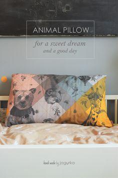 Animal Pillows, Good Day, Sweet Dreams, Wood, Handmade, Animals, Buen Dia, Good Morning, Hand Made
