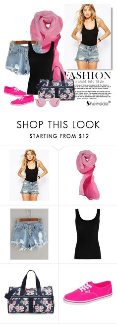"""""""The June II"""" by anonymousleaf ❤ liked on Polyvore featuring ASOS, Twenty, LeSportsac, Vans and Oliver Peoples"""