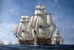 Trafalgar fleets - VictoryShipModels.com | Wooden model ...