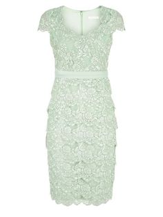 JACQUES VERT SWEETHEART LACE LAYERED DRESS
