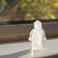 Lego man ice cube molds
