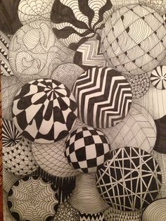Geometric patterned juggling balls. Inspiration behind the concept at Trapeze bar in Shoreditch, London. Design by Tibbatts Abel. http://www.tibbattsabel.com/bars/trapeze