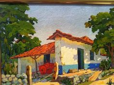 Camille Pissarro, Mexican Art, Little Houses, Central America, Costa Rica, Gabriel, Cross Stitch Patterns, Painting, Beautiful