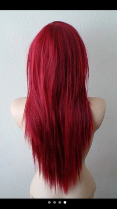 Red Wigs Lace Frontal Wigs Copper Orange Hair Maintaining Red Hair Brick Red Hair Blue Bob Wig Human Hair Red To Black Hair Straight Red Hair, Haircuts Straight Hair, Long Red Hair, Feathered Hairstyles, Wig Hairstyles, Curly Hair Styles, Natural Hair Styles, Red Wigs, Red Hair Color